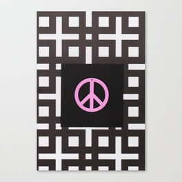 black and white symbol Canvas Print