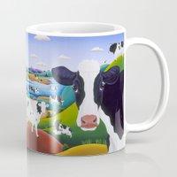 cows Mugs featuring Cows, Cows, Cows by Raul del Rio