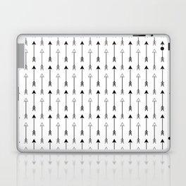 Black and White Arrows Pattern Laptop & iPad Skin