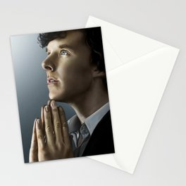 Sherlock in thought Stationery Cards
