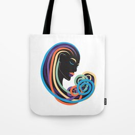 Tangle of color - black beauty Tote Bag