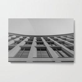 Bowed Building Metal Print