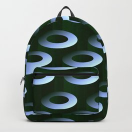 Geometric Architectural Pattern in Silver & Gray-Green Backpack