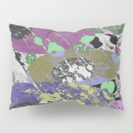 Stack Em Up! - Abstract, textured, pastel coloured artwork Pillow Sham