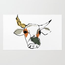 This is the cow with the crumpled horn... Rug