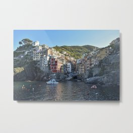 Riomaggiore Village Sunrise - Cinque Terra, Italy Metal Print