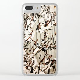 Your Ad Here Clear iPhone Case
