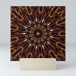 Brown Kaleidoscope Mandala Mini Art Print