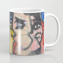 Two lovers expressionist painting Coffee Mug