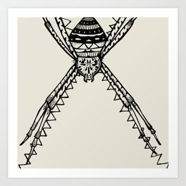 St. Andrew's Cross Spider Art Print