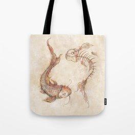 Yin Yang Fish Tote Bag
