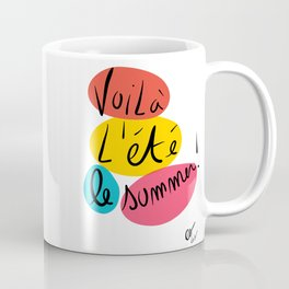 Voilà L'été This is Summer Graffiti Typography Art Coffee Mug
