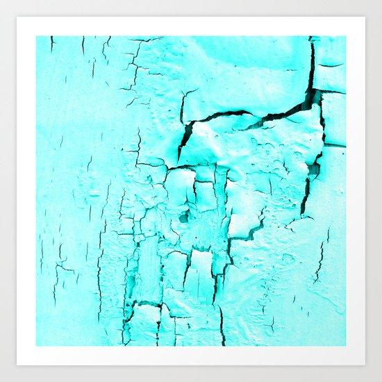 Decay Aqua Art Print