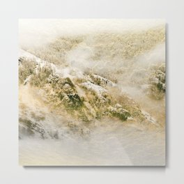 Golden Winter Forest 3 Metal Print
