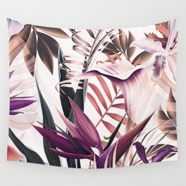 Magenta tropical Wall Tapestry