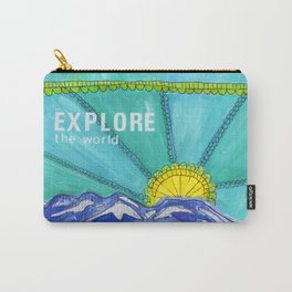 Explore the World Mountain Collage Carry-All Pouch