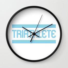 Triathlete Wall Clock