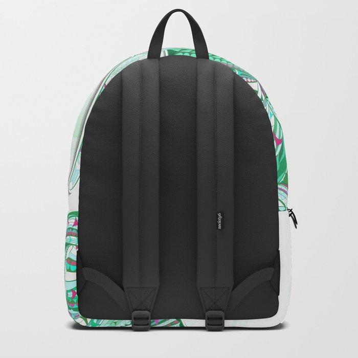 Sea Green Ethnic Elephant Backpack