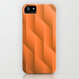 Gradient Orange Diamonds Geometric Shapes iPhone Case