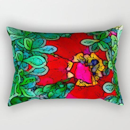 Shy Tulip Hiding Rectangular Pillow