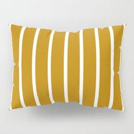 Gold and White Stripes Pillow Sham