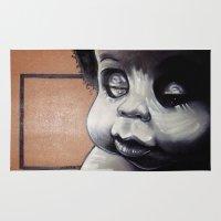 biggie Area & Throw Rugs featuring Biggie Baby by Adam C Schrimmer