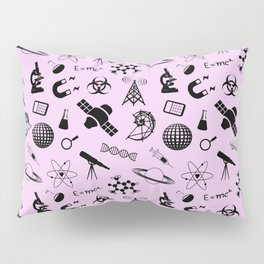 Symbols of Science // Light Pink Pillow Sham