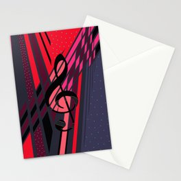 Lively Musical Dimensions Stationery Cards