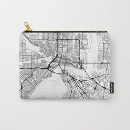 Jacksonville Map White Carry-All Pouch