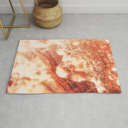 Marble Flow - Rust Orange Rug