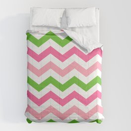 Sweet Summer Melon Chevron  Comforters