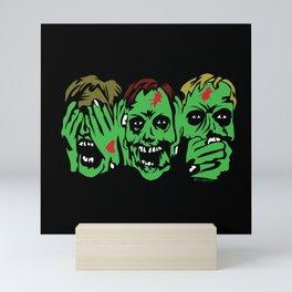 3 Zombies Mini Art Print