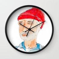 zissou Wall Clocks featuring Team Zissou by Wakkala