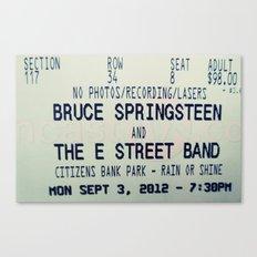 Bruce Springsteen & the E Street Band: Rain or Shine Canvas Print