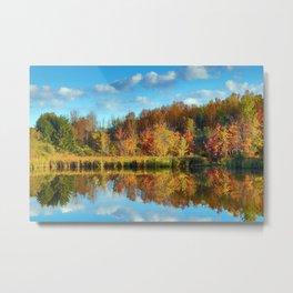 Vibrant Autumn Reflections Metal Print