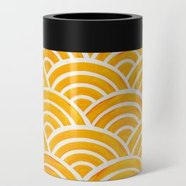 Japanese Seigaiha Wave – Marigold Palette Can Cooler