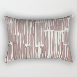 Simply Bamboo Brushstroke Red Earth on Lunar Gray Rectangular Pillow