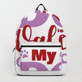 Dog Valentine Backpack