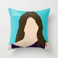 himym Throw Pillows featuring Robin Scherbatsky HIMYM by Rosaura Grant