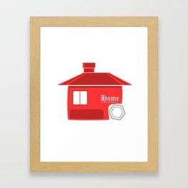 Red House Logo Style Framed Art Print