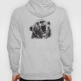 Sketch head bear Hoody