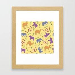 Animal colorfulness Framed Art Print