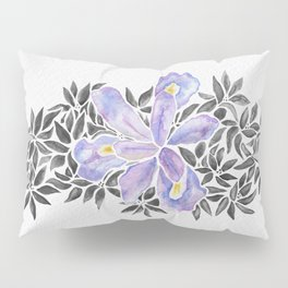 Iris and Butterfly Weeds - Purple & Black Palette Pillow Sham