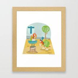 """""""T"""" Framed Art Print"""