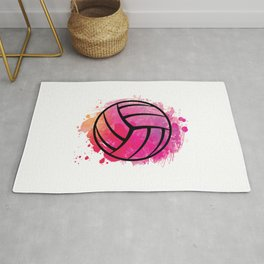 Volleyball Team Artwork | Sports Player Gift Ideas Rug