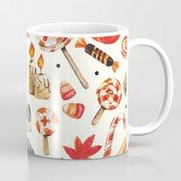 halloween Mugs featuring halloween by Ceren Aksu Dikenci