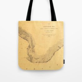 Map of Galveston Bay 1851 Tote Bag