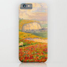 Václav Radimský (1867-1946) Normandy coast in bloom Impressionist Landscape Painting Bright Colors iPhone Case