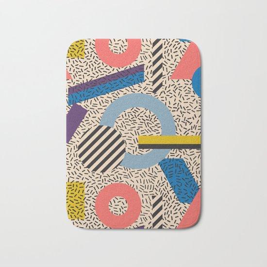 Memphis Inspired Pattern 3 Bath Mat