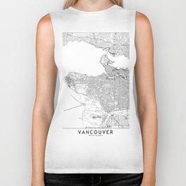 Vancouver White Map Biker Tank